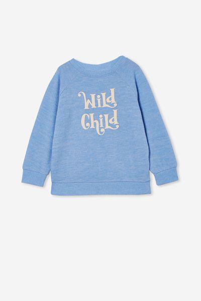 Super Soft Mila Crew, DUSK BLUE/ WILD CHILD