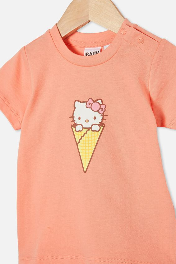 Jamie Short Sleeve Tee-License, LCN SAN MUSK MELON/HELLO KITTY ICE CREAM