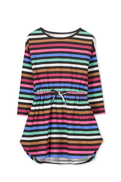 Eloise Long Sleeve Dress, PHANTOM/MULTI STRIPE