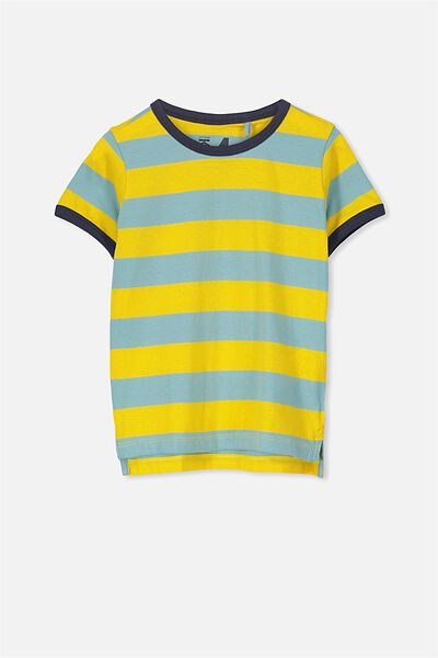 Max Short Sleeve Tee, GOLDEN YELLOW YDS/NK RINGER