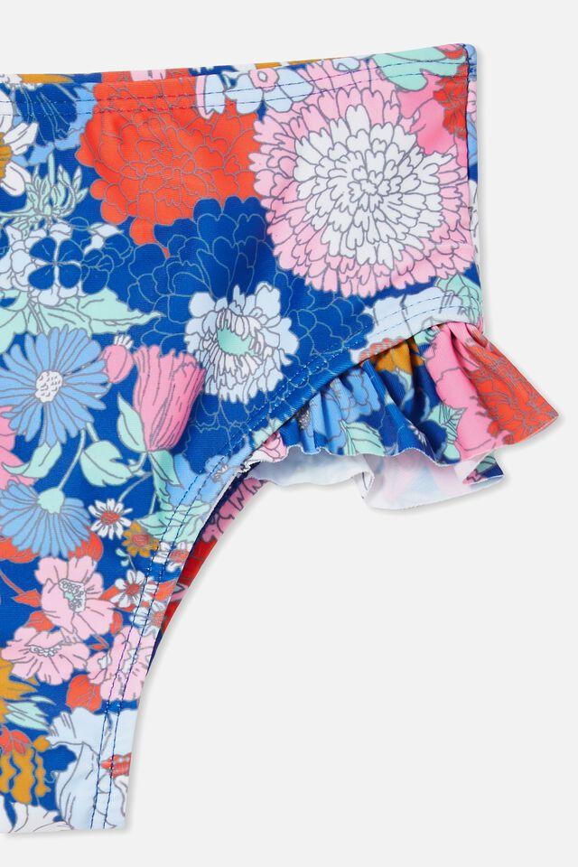 Pippa Ruffle Bikini Bottom, COBALT/BOHO FLORAL