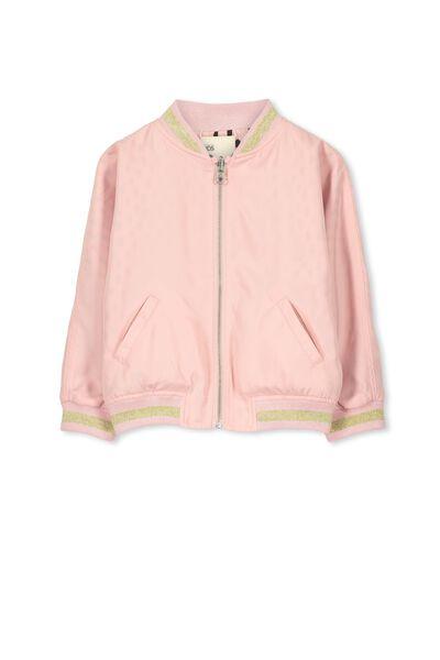 Georgia Jacket, POWDER PINK BUTTERFLY/GRAPHITE DABS