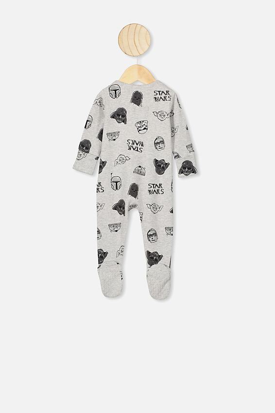 The Long Sleeve Zip Romper, LCN LU CLOUD MARLE STARWARS