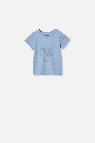 Jamie Short Sleeve Tee, LCN LN POWDER PUFF BLUE/FOO FIGHTERS EAGLE