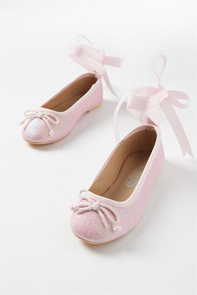 Ballet Flats, SOFT PINK GLITTER