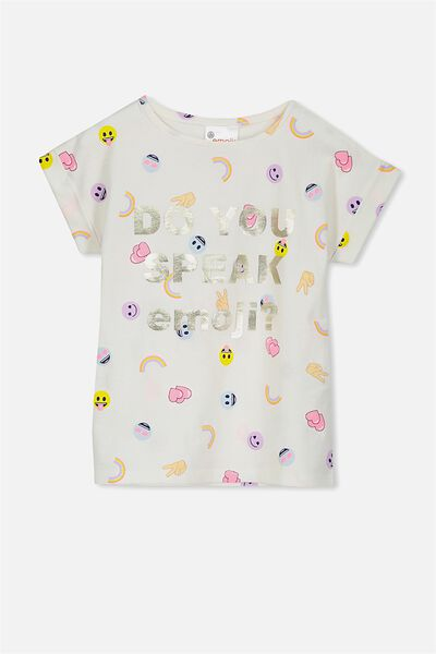 Lux Short Sleeve Tee, DO YOU SPEAK EMOJI/DROP SHOULDER