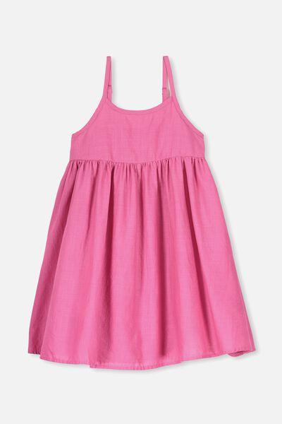Lizzie Sleeveless Dress, CARMINE PINK