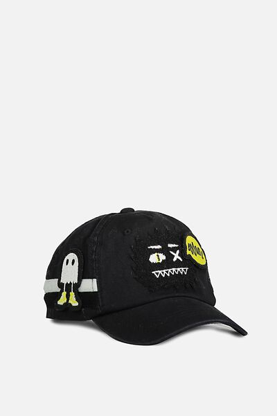 Monster Patches Cap, BLACK