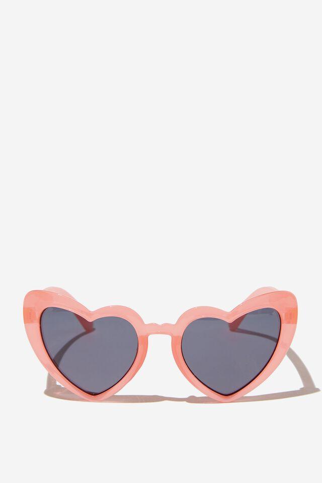 Kids Retro Sunglasses, CALI PINK HEART
