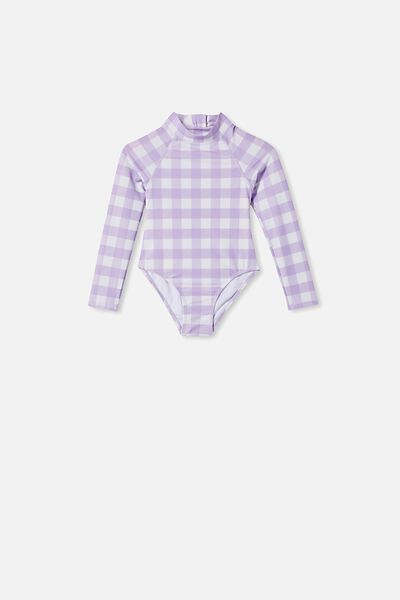 Lydia One Piece, SUMMER VIOLET CHECK