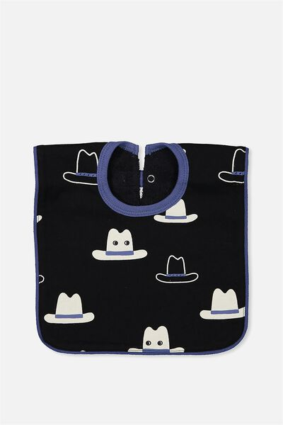 Hansel And Gretel Babies Bib, BLACK/COWBOY HATS