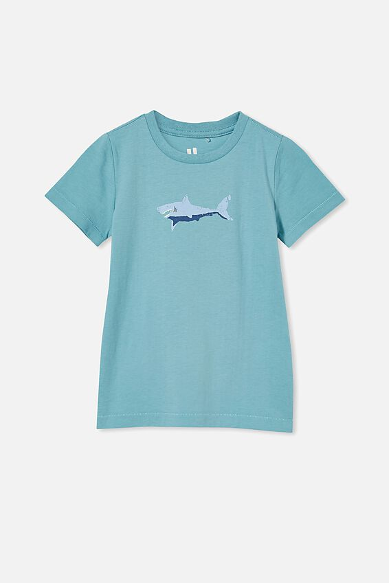 Max Short Sleeve Tee, BLUE ICE/SHARK