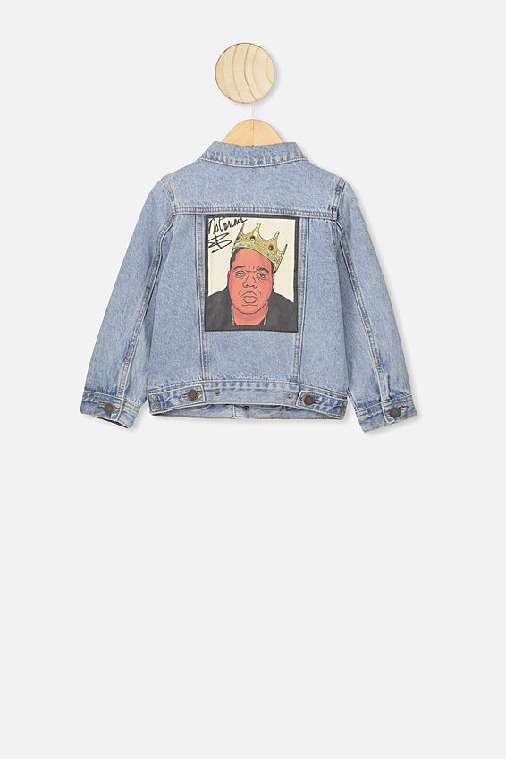 License Denim Jacket, LCN MT BLUE WASH/BIGGIE