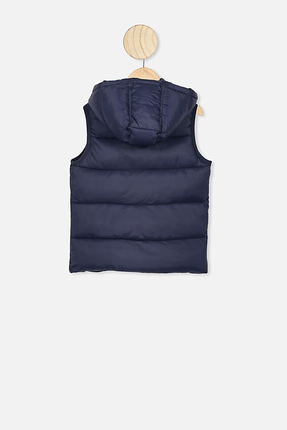 Billie Puffer Vest, NAVY BLAZER