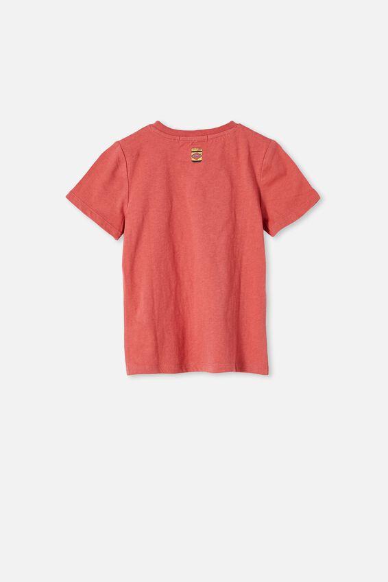 Vegemite short sleeve Tee, LCN VEG RED BRICK/VEGEMITE ROSE IN EVERY CHEE
