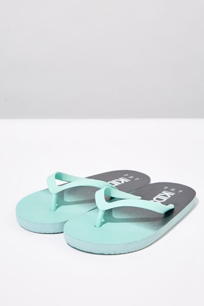 Printed Flip Flop, BLUE PHANTOM