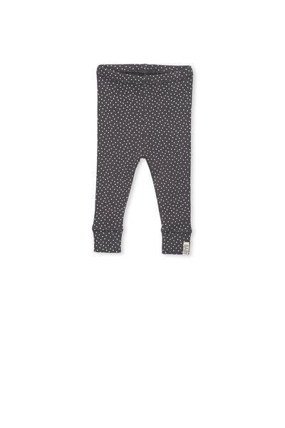 Mini Ribbed Legging, GRAPHITE GREY/VANILLA SPOT