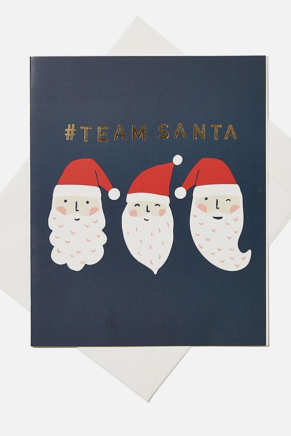 Christmas Gift Card, TEAM SANTA