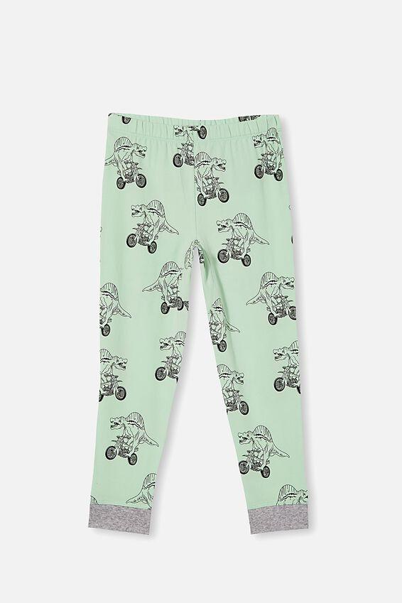 Oscar Long Sleeve Pyjama Set, DINO MOTOR / SUMMER GREY MARLE