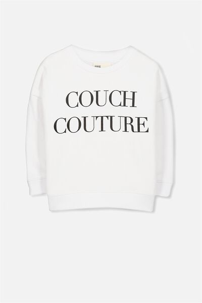 Sage Crew, BRIGHT WHITE/COUCH COUTURE