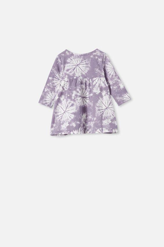 Molly Long Sleeve Dress, DUSK PURPLE TIE DYE