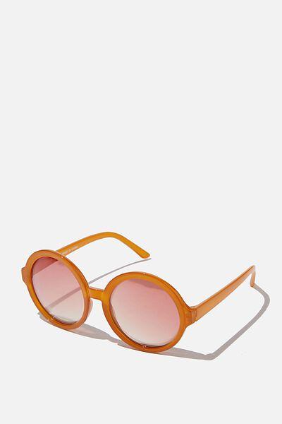 Kids Retro Sunglasses, MILKY AMBER ROUND