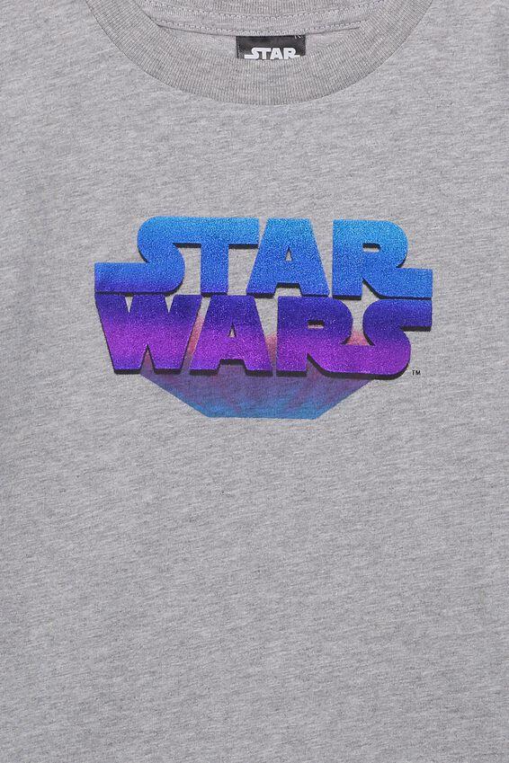 Star Wars Short Sleeve Tee, LCN LU LIGHT GREY MARLE STAR WARS