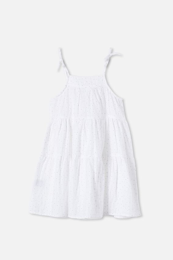 Hope Sleeveless Dress, WHITE PUFF FLORAL