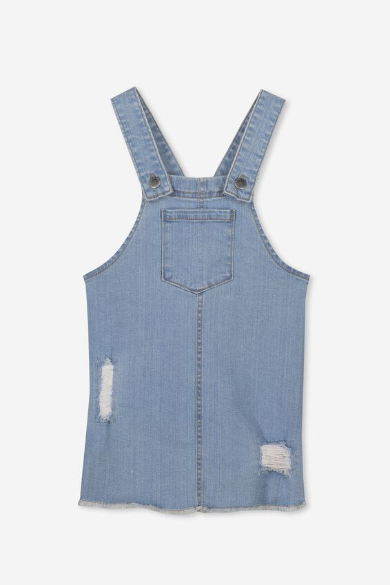 Summer Pinafore, LIGHT WASH RIP N REPAIR
