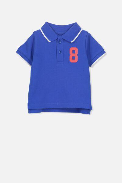 ce4c8f6d1 Hugo Polo Tee, ULTRA BLUE/NUMBER 8. Cotton On Kids