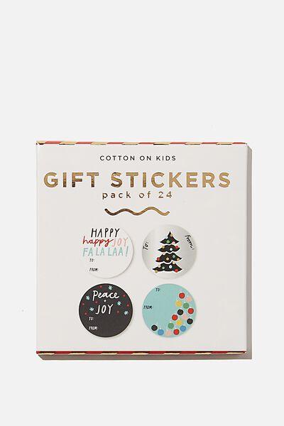 Christmas Wrap Stickers, PEACE AND JOY