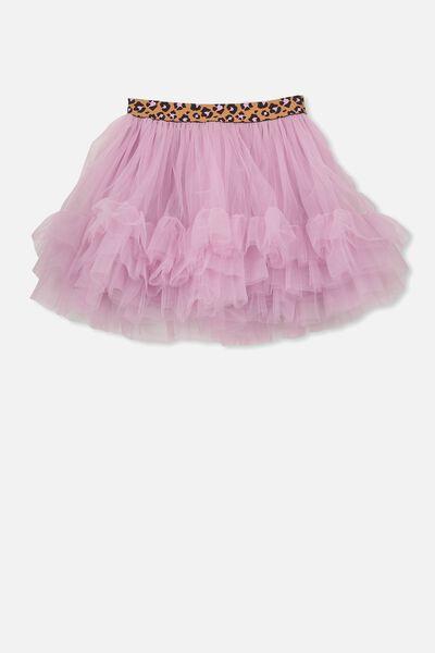Trixiebelle Tulle Skirt, GRAPE/RUFFLES