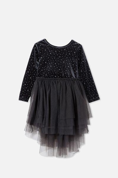 Iris Long Sleeve Dress, PHANTOM/STARS