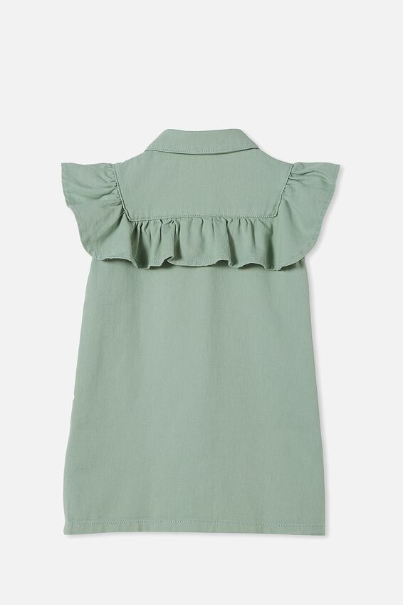 Lucille Sleeveless Frill Dress, SMASHED AVO