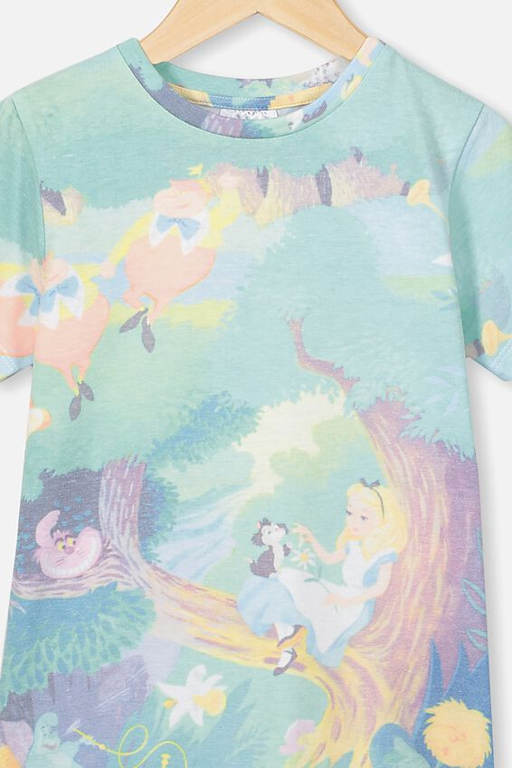 Lux Short Sleeve Tee, LCN DIS ALICE IN WONDERLAND STORYBOOK