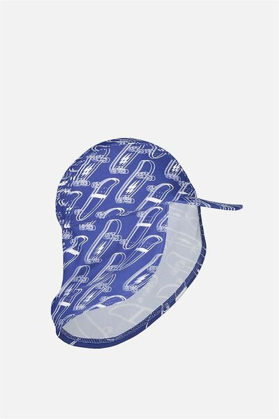 Swim Hat, INK BLUE/SKATEBOARDS