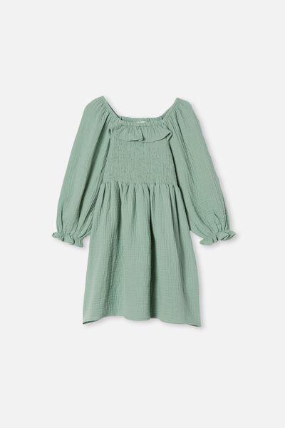 Audrey Long Sleeve Dress, SMASHED AVO