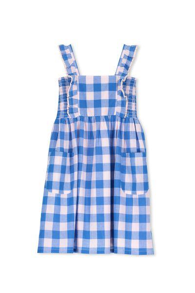 Dixie Dress, PINK/BLUE GINGHAM