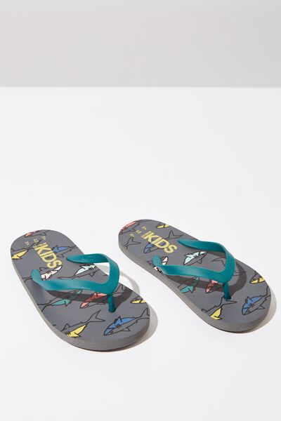 Printed Flip Flop, SWIMMING SHARKS