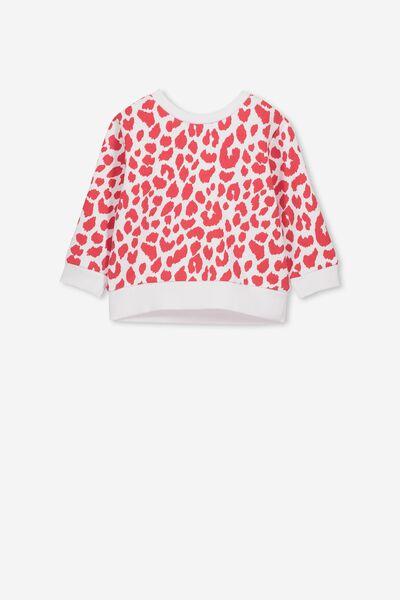 c7237659d2e Billie Sweater, WHITE/LOLLIPOP OCELOT. Cotton On Kids