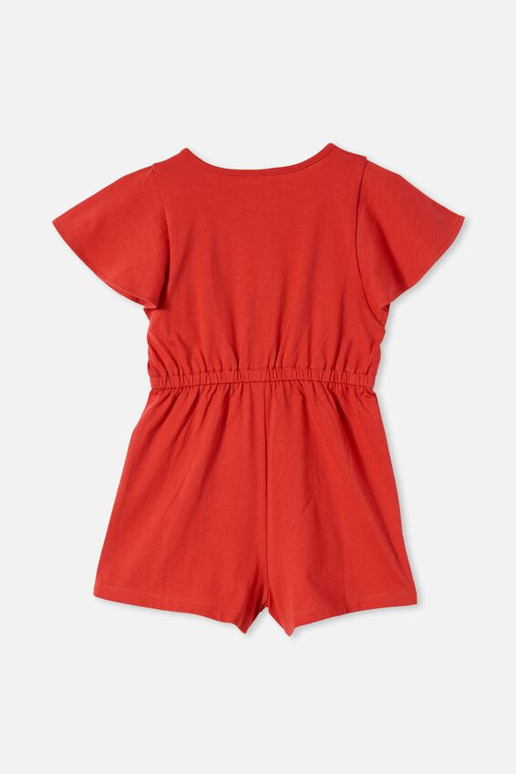 Clare Playsuit, LUCKY RED
