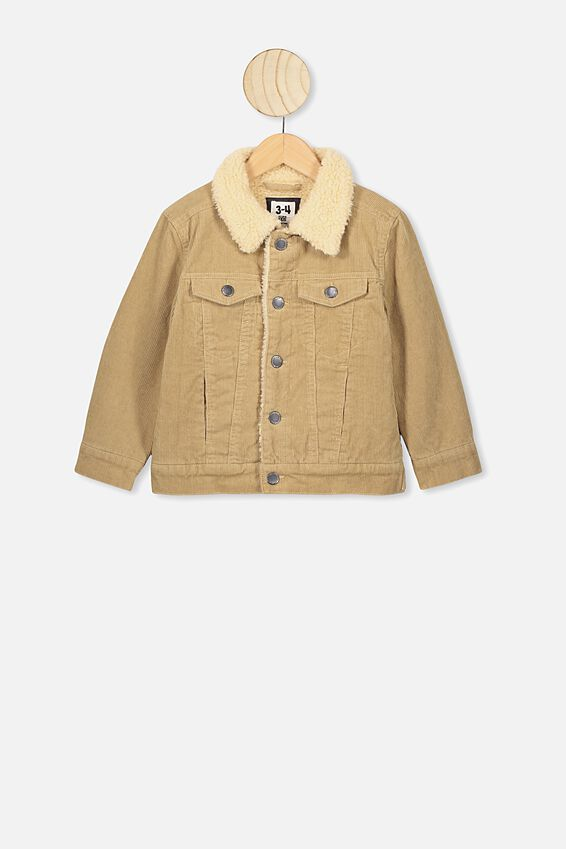 Jamie Cord Sherpa Jacket, WASHED STONE