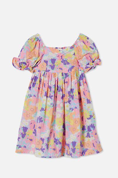 Samantha Short Sleeve Dress, BRIGHT FLORAL