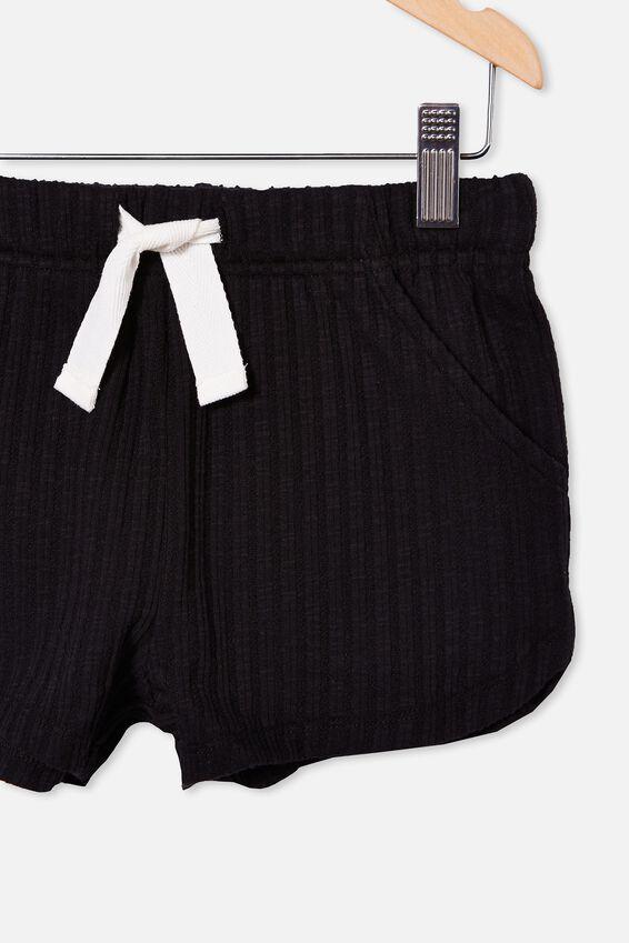 Gianna Knit Short, BLACK RIB