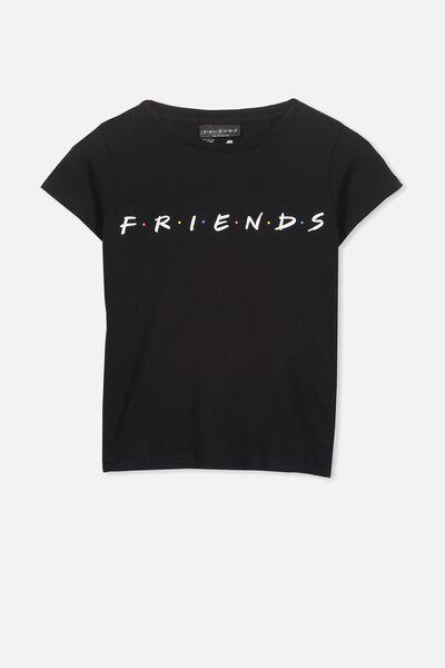Lux Short Sleeve Tee, LCN WB BLACK/FRIENDS