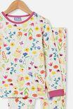 Winnie the Pooh Florence Long Sleeve Pyjama Set, LCN DIS WINNIE THE POOH FLORAL/VANILLA
