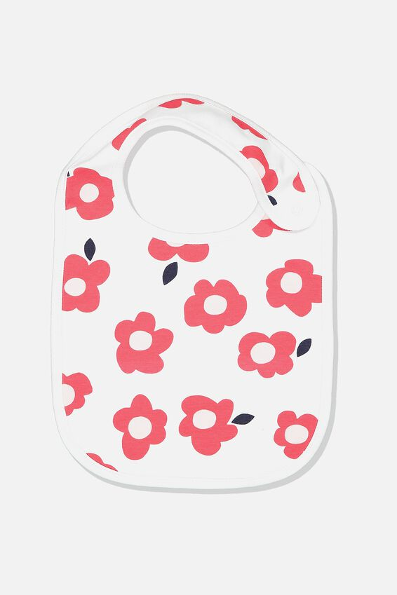 The Baby Bib, WHITE/HAPPY FLORAL