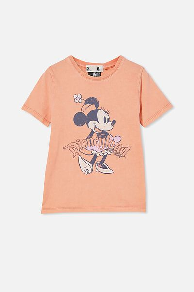 License Short Sleeve Tee, LCN DIS MINNIE FRONT AND BACK/MUSK MELON