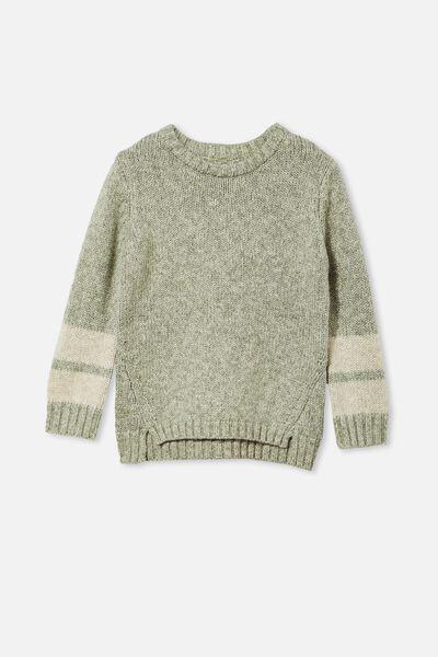 Blair Knit Crew, SWAG GREEN TWIST/STRIPE