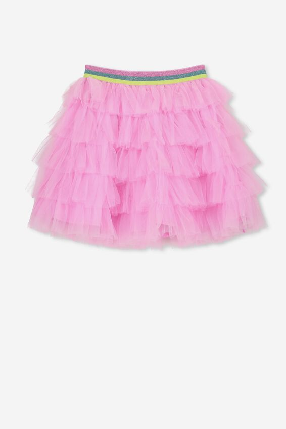 Trixiebelle Tulle Skirt, FAIRYFLOSS PINK/TIERED